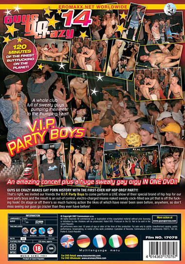 Guys Go Crazy 14 V.I.P. Party Boys Cover Front