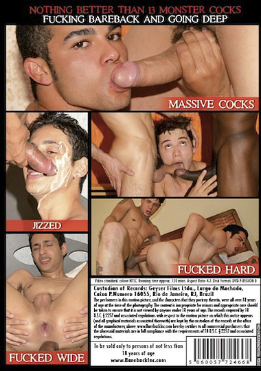 Used and Abused Bareback Monster Cocks Cover Back