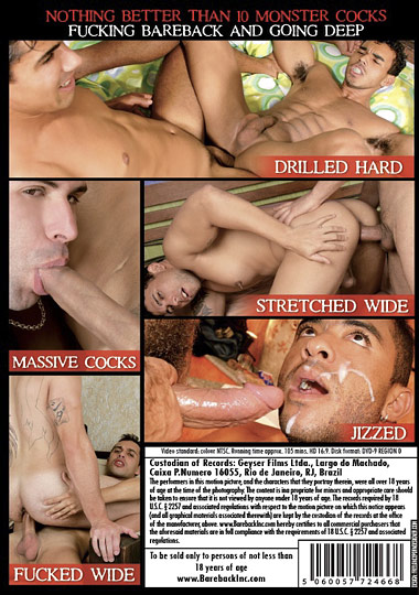 Used and Abused Monster Cocks Going Deep Cover Front