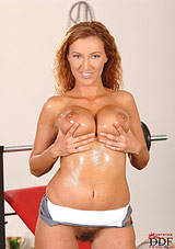 Krisztina Works Up A Sweat