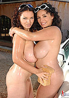Big Tits Car Wash: Michelle Monaghan and Joanna Bliss