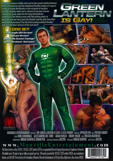 The Green Lantern is Gay A XXX Parody Cover Back