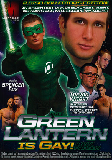 The Green Lantern is Gay A XXX Parody Cover Front