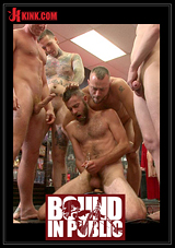 Bound In Public: Beard Full Of Cum - Bound Stud Fucked With Machines And Cock Alike