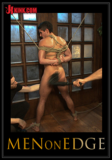 Men On Edge: Two Edging Perverts Take Down A Sexy Stud With A Fat Cock cover