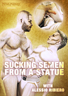 Sucking Semen From A Statue