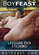 Lifeguard Dick Stroking