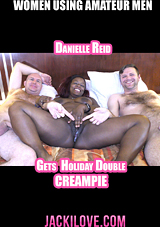 Danielle Reid Gets A Holiday Double Creampie