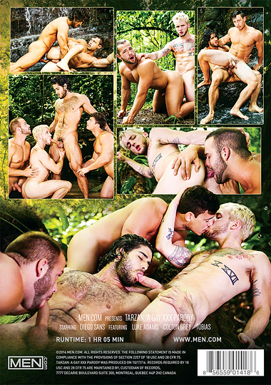 Tarzan A Gay XXX Parody Cover Back