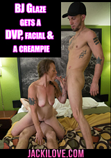 BJ Glaze Gets A DVP, Facial And A Creampie