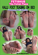Kalli Foot Teasing On Bed