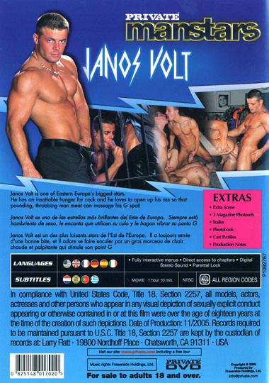 Private Manstars 5 Janos Volt Hes Electrifying Cover Back