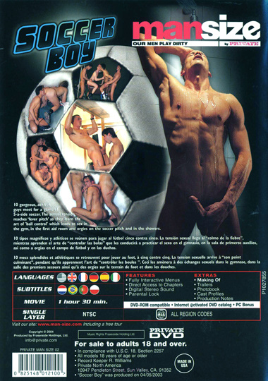 Mansize 02 Soccer Boy Cover Back