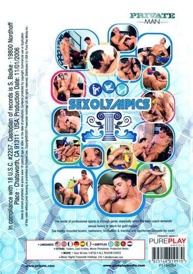 Private Man 11 Sex Olympics Cover Back