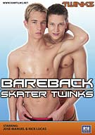 Having crashed out in an empty house's sauna, these two skater punks fall asleep and dream some awesome dreams! A blonde haired boy seduces the dark haired skater, both swiftly getting on their knees and draining each others ball of hot spunk. They both have delicious looking dicks and it's no wonder they greedily lap up all the spunk; it must be as tasty as it looks! A twink threesome! These cute boys get horny as hell in the kitchen, stripping each other of their clothes, showing their tight smooth bodies bit by bit until all three are naked and rock solid! Their sweet dicks get licked and sucked before being thrust into a peachy ass as they feel every inch slide in deeper and deeper. This is one steamy scene that isn't to be missed!