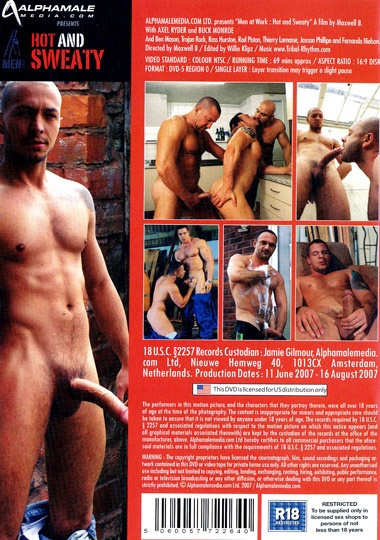 Men at Work 3 Hot and Sweaty Cover Back