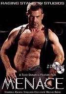 Rock-drum-bass-suck-fuck is the backdrop and the theme of Menace, the new all-sex feature directed by GAYVN award-winning director Tony Dimarco. Featuring four hot sex scenes, four new Raging Stallion exclusives, and two scorching solos, Menace delivers in the vein of its predecessors Savage, Instinct, and Manifesto.