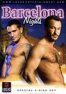 Director Michael Lucas' acclaimed International Series finally hits the shores of Spain, where the Barcelona days are hot, and the Barcelona Nights are even hotter! Join Lucas Entertainment exclusives Wilfried Knight and Bruce Beckham as they hit the town with Michael Lucas and newcomer Ross Stevens, from the underground leather bar Eagle Barcelona to the renown mega-club Space. Kinky sex, sweaty hook-ups, and plenty of raunchy drama make Barcelona Nights a trip you'll never forget!