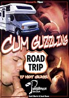 Once you see the cast of Pumphouse Media's Cum Guzzling Road Trip get in the RV and takes their cum cruiser on the road, you're gonna wanna sing Come on, Get Happy! Hottie Shawn Hawks (his first time in porn) , Drake Corrigan, Blake Holden and Dustin Meyers put their rubber to the road to find fresh dick to suck. The producer and director took the wheel and also had some occasional screen time to prove this was an actual road trip. When they pick up straight looking Carter Bentley, the cum cruise begins.