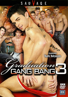 Gay Orgy GroupSex : Graduation Gang Bang 3!