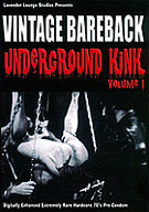 Lavender Lounge Studios presents it's package of historic gay erotica Vintage Bareback: Underground Kink Volume 1. This extremely rare footage of deviant sex acts was lost to an entire generation and only recently unearthed on 8mm film stored in unmarked boxes. Experience kinky gay sex from a period before the phrase 'safe, sane and consensual' was coined. Witness experimental S/M and bondage techniques with crude, hand-made sexual devices invented by evil geniuses. Part of a gay XXX film preservation project with hardcore pre-condom loops from the 1970's digitally enhanced and color-corrected.