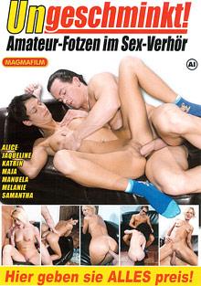Ungeschminkt Amateur-Fotzen Im Sex-Verhor cover