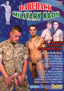 Gay Military Soldiers : Bareback Military Kaos!