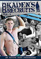In this 3rd installment, Kaden Saylor settles into his leadership role. He takes a recruit Bastian across the line, first with oral and then fucking him. Then once it's Bastian's urn to take sweet Evan's cherry, Kaden pulls rank does it himself!
