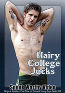 From the college campuses of Southern California, these hairy-chested str8 dudes make their very first appearances on camera! Eric is a 20 year old frat boy who delivers two steamy jerk-off solos. College jock, Simon, jerks off for the camera, then decided to come back later for a little help working his tool over. He then gets his first handjob from another guy!