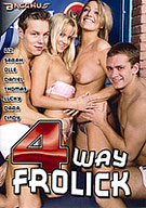 It's a tangle of bodies in a gang-up, group grope as these randy men and women rollick and frolic in wild four way action where anything and anyone goes!