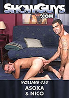 Nico is an adorable young Italian, whose innocent looks belie the fact he is a complete sex pig, who loves older, hairy men. Asoka fills the bill to perfection. The guys are already into their sex games when the scene starts, Nico sucking Asoka, then the two kissing with Asoka shoving his fingers up Nico's ass.