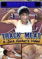 In this video called, Track Meat, we finally go to get our fuck on with this cutie named Danny that lives near us. He runs track three times a week and Hunter says he is always smiling at him whenever he sees him out on the field. So, of course we had to meet Danny and say hi. Hunter ended up giving him our phone number and we chatted on-line a few times, then we decided to stalk him, lol! When we approached Danny I noticed he was wearing a jock strap so I asked to see it. He asked that we walk to the back of the stadium. Hunter and I followed and he pulled out his HUGE THICK BOY MEAT and furry man-boy ass!