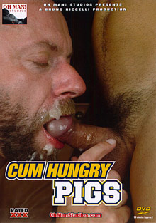 Gay Cum Sperm : emission Hungry Pigs!