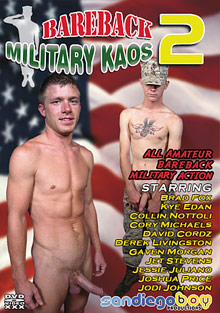 Gay Military Soldiers : bareback Military Kaos 2!