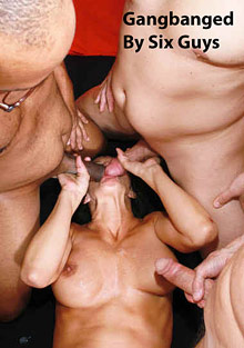 Interracial Porn : Gangbanged By Six fellas!