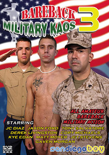 Bareback Military Kaos 3 cover