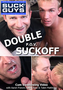 Gay Oral Sex : Double P.O.V. Suckoff!