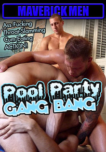 Gay Orgy GroupSex : Pool Party Gang Bang!