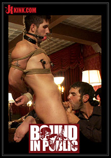 Gay Orgy GroupSex : Bound In Public: Gay Night On The Upper Floor!