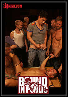 Gay Orgy GroupSex : Bound In Public: The Nob Hill Theater Slut!