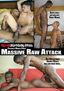 Gay Interracial Sex : big Raw Attack!