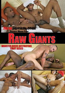 Gay Ebony Studs : Raw Giants!