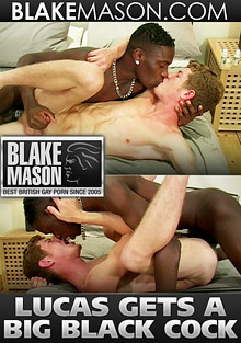 Gay Interracial Sex : Lucas Gets Big Black Cock!
