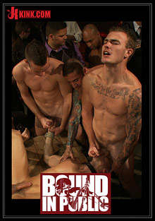 Gay Orgy GroupSex : Bound In Public: Adam Knox Gets Caught In Cum Fest!
