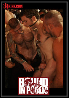 Gay Orgy GroupSex : Bound In Public: Ripped Boy Gets His Hole Shocked And At Mr. S Leather Store!