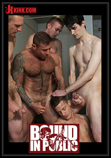Gay Orgy GroupSex : Bound In Public: Gym Rat And The gay Mafia!