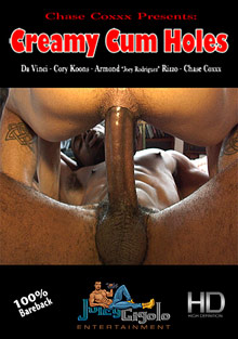 Gay Bareback Sex : Creamy flow Holes!
