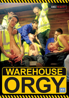 Gay Bareback Sex : Warehouse orgy!