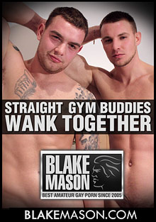 Gay Amateur Sex : Straight Gym Buddies Wank Together!