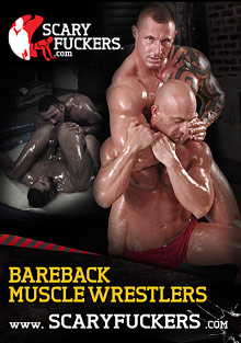 Gay Muscle Men : Bareback Muscle Wrestlers!